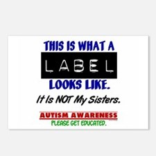 Label 1 Autism (Sisters) Postcards (Package of 8)