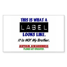 Label 1 Autism (Brother) Rectangle Sticker 10 pk)