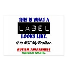 Label 1 Autism (Brother) Postcards (Package of 8)