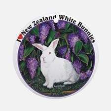 New Zealand White Bunnies Ornament (Round)