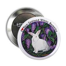 "New Zealand White Bunnies 2.25"" Button"