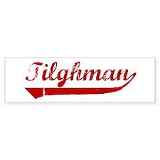 Tilghman (red vintage) Bumper Bumper Sticker