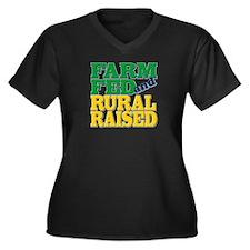 """""""Farm Fed and Rural Raised"""" Women's Plus Size V-Ne"""