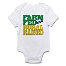 """FARM FED AND RURAL RAISED"" Infant Bodysuit"