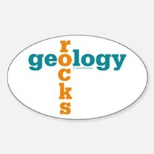 Geology Rocks Oval Decal