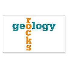 Geology Rocks Rectangle Decal