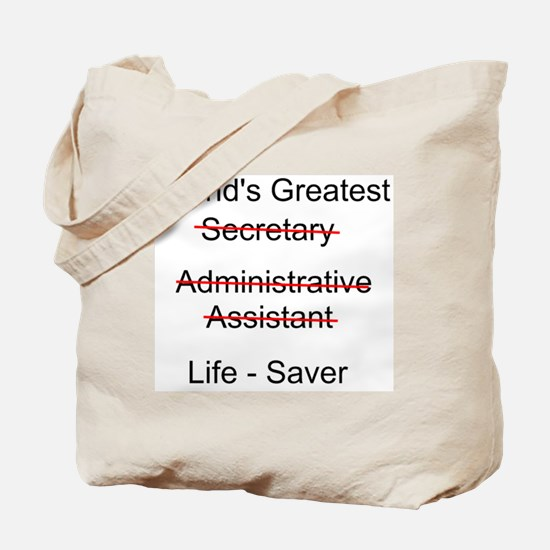 World's Greatest Secretary Tote Bag