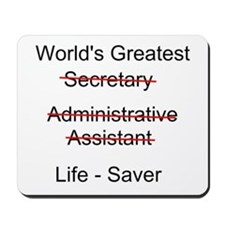 World's Greatest Secretary Mousepad