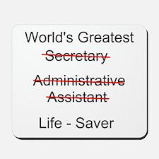 World's Greatest Secretary Mousepad