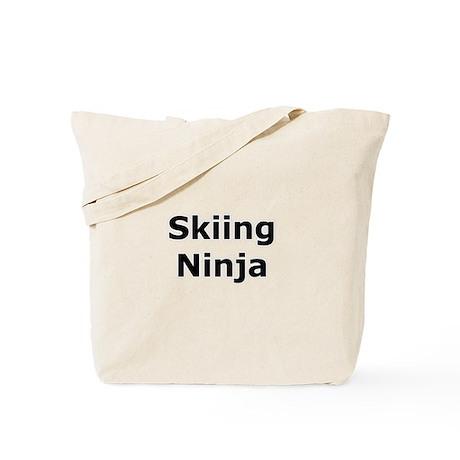Skiing Ninja Tote Bag