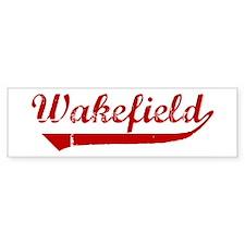 Wakefield (red vintage) Bumper Bumper Sticker