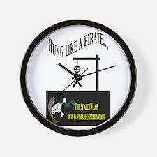 Cute Pirate humor Wall Clock