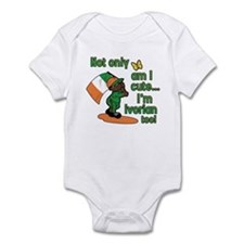 Not only am I cute I'm Ivorian too! Infant Bodysui