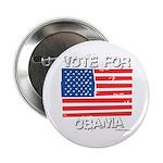 Vote for Obama Button