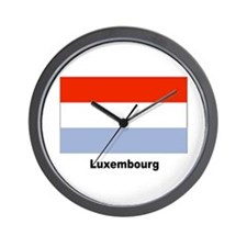 Luxembourg Flag Wall Clock
