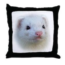 Ferret Face Throw Pillow