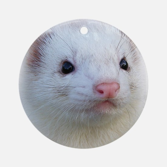 Ferret Face Ornament (Round)