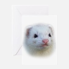 Ferret Face Greeting Card