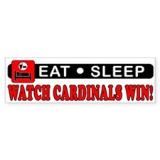 CARDINALS WIN! Bumper Bumper Sticker