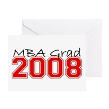 MBA Grad 2008 (Red) Greeting Card