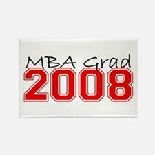 MBA Grad 2008 (Red) Rectangle Magnet