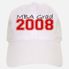 MBA Grad 2008 (Red) Baseball Baseball Cap