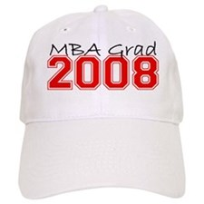 MBA Grad 2008 (Red) Baseball Cap