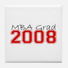 MBA Grad 2008 (Red) Tile Coaster