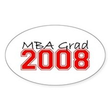 MBA Grad 2008 (Red) Oval Decal