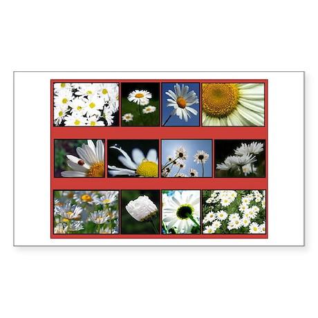 Flowers Rectangle Sticker