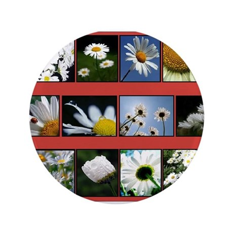 "Flowers 3.5"" Button (100 pack)"