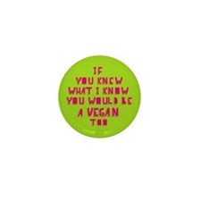 If you knew (pink) Mini Button