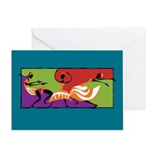Caribbean Limbo Dance Greeting Card