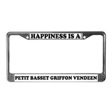 Happiness Petit Basset Griffon License Plate Frame