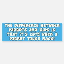 Parrots versus Kids Bumper Bumper Bumper Sticker