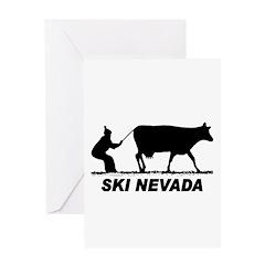 Ski Nevada Greeting Card