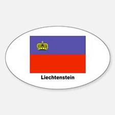 Liechtenstein Flag Oval Decal