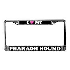 I Heart My Pharaoh Hound License Plate Frame