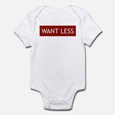 Want Less - Red Infant Bodysuit
