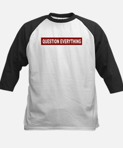Question Everything - Red Kids Baseball Jersey