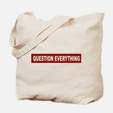 Question Everything - Red Tote Bag