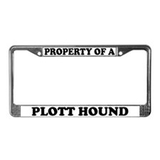 Property Of A Plott Hound License Plate Frame