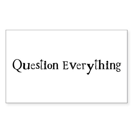 Question Everything - Westac Rectangle Sticker