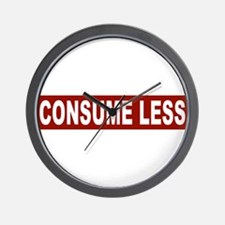 Consume Less - Red Wall Clock