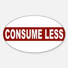 Consume Less - Red Oval Decal