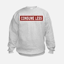 Consume Less - Red Sweatshirt