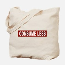 Consume Less - Red Tote Bag