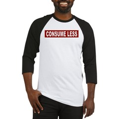 Consume Less - Red Baseball Jersey