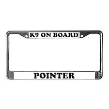 K9 On Board Pointer License Plate Frame