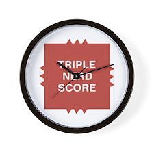 Triple Nerd Score Wall Clock
